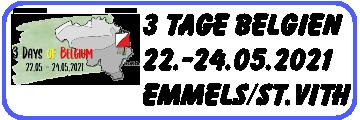3 Tage Belgien 2021